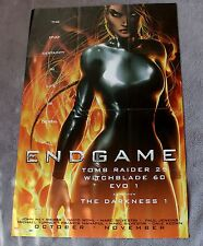 Endgame 2002 Tomb Raider Witchblade EVO Darkness Michael Turner PROMO Poster VF