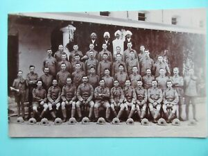 SOMERSET LIGHT INFANTRY POSTCARD,WW1 1914-1918 MILITARY GROUP PHOTO