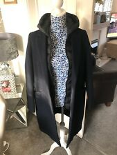 Ladies Superdry Tailored Wool Coat With Gilet Navy Size 10