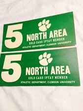 Vtg Clemson University Green &White Card Stock Parking Pass Cards   TigarPaw #5