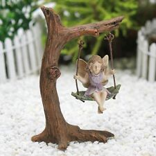 Tree Swing with Fairy ~ Fairy Garden Miniature ~ Fairy Accessory ~ by Jennifer