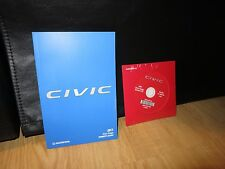 2017 HONDA CIVIC COUPE OWNERS MANUAL BOOK    PLUS OWNERS CD INCLUDES NAVIGATION