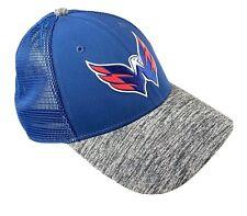 Washington Capitals Snapback Authentic Pro Fanatics Blue Gray Eagle Logo RARE