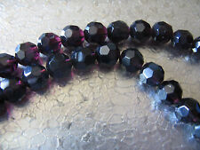 50 Faceted Beads 8mm Purple 50 Beads Jewelry Finding Beads