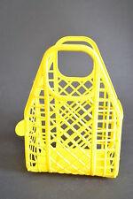 Original DDR Korb Körbchen Steckkorb gelb Plastik