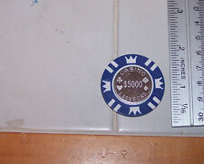 CooL 15 Gram $5,000 Coin Inlay Card GUARD Poker Chip Sample