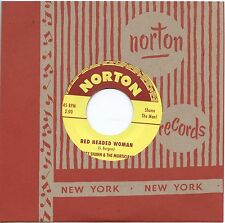 "MORTY SHANN & MORTICIANS Movin In / Red Headed Woman 7"" single hasil adkins 1960"