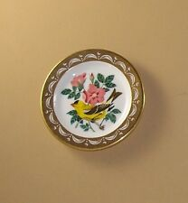 State Birds and Flowers Miniature Plate Iowa American Goldfinch Wild Rose