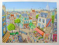 """MICHAEL STRINGER """"LA VIE PARISIENNE"""" Hand Signed Large Serigraph Art"""