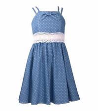 BONNIE JEAN Girl's 16 Double Strap Polka Dot Fit & Flare Dress NWT $60