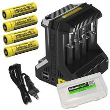 Nitecore i8 battery charger w/ 4 X 3400mAh 18650 Rechargeable 18650 Batteries