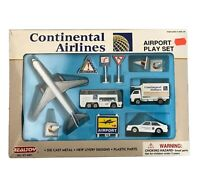 Vintage Continental Airlines Airport Play Set 12 Pieces by Realtoy 4861 Daron