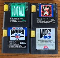 Bundle Of 4 Sega Genesis NFL Madden Football Games 91, 93, 94, 95
