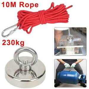 230kg Pull Recovery Magnet Fishing Treasure Hunting Metal Detector Rope 10M