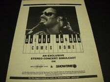 STEVIE WONDER comes home on Westwood One and Showtime 1984 PROMO POSTER AD mint