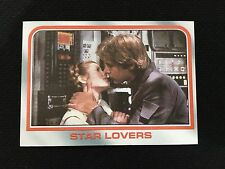 "STAR WARS ""STAR LOVERS"" LEAI AND HAN SOLO CARRIE FISHER TOPPS 1980 CARD"