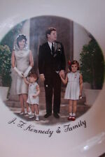 "Fabulous Vintage J. F. KENNEDY & FAMILY 9"" Collector Plate"