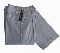 Harmont & Blaine W308951383 Pantalone Gessato Azzurro tg 50  -69% OCCASIONE