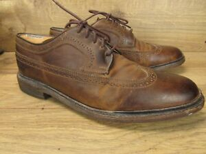 The Frye Company Brown Leather James Wingtip Dress Oxford Shoes 10.5 D
