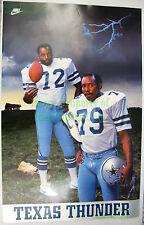 VHTF Vintage NIKE Football Poster TEXAS THUNDER Ed TOO TALL Jones Dallas Cowboys
