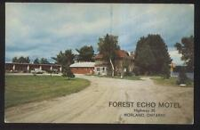 Postcard NORLAND Ontario/CANADA  Forest Echo Tourist Motel Motor Court 1960's