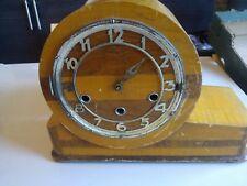 Vintage Art Deco Mantel Clock for Restoration spares or repair