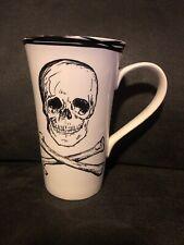 "COVENTRY FINE CHINA 15 oz Tall White Coffee Mug ""SKULLS"""