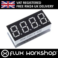 "4 Digit Seven Segment Red LED Display 0.36"" Cathode Arduino Pi Flux Workshop"