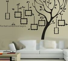 wall stickers xlarge tree family photo frame decal home custom colour vinyl kids