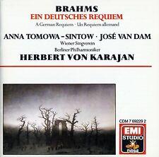 BRAHMS: EIN DEUTSCHES REQUIEM - KARAJAN / CD - TOP-ZUSTAND