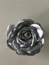 NWT WHITE HOUSE BLACK MARKET Silver Metallic Rose Pin/Clip