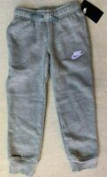 Nike little boys Club Fleece Cuffed Jogger Pants Grey 86B252 size 4 7