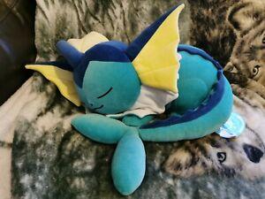 Pokemon Center Japan Large Sleeping Vaporeon Squishy Plush Pillow Uk seller BN