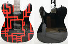 FERNANDES TEJ-70 Electric Guitar TELECASTER type Red Line Clear Paint EMG Used for sale