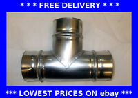 Equal 90 degree tee T piece ventilation hydroponics ducting pipe branch