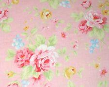 Cottage Shabby Chic Lecien Antique Flower Pink Rose Bouquet 31420L-20 BTY