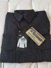 Men's Black BLACKHAWK! Warrior Wear Long Sleeve MDU Field Shirt Size Small