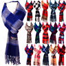Winter Womens Mens 100% CASHMERE Checked Scarves Wool SCOTLAND Made Plaid Scarf