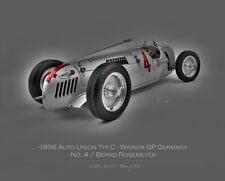 CMC - 1936 Auto Union Typ C, Winner German GP - No. 4 - 1:18 MIB