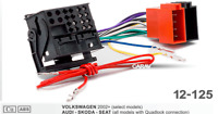 ISO Quadlock Radio Adapter kompatibel VW Golf Passat Polo Touran Touareg ab 2003