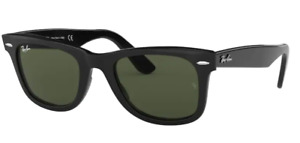 NEW OCCHIALI DA SOLE RAY-BAN MOD: 2140 WAYFARER COL:BLACK LENSES: G15  CAL 54