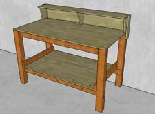 """58""""x31"""" Workbench with Shelf Plans Fast and Easy Diy build with Plywood & 2x4"""