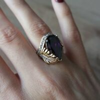 Turkish Handmade Sterling Silver 925 Amethyst Ring Size 6,7,8,9
