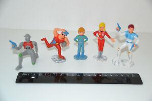 Captain Future/ 5 verschiedene Schleich Figuren/ Merch-München original von 1980