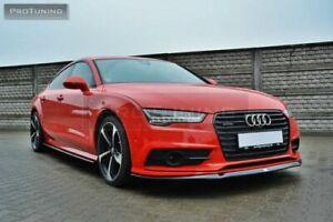 For Audi A7 4G8 S Line Performance Front Lower Splitter Lip Addon Skirt
