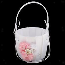 Cesto de Flores Accesorio Dama Novia Ceremonia Boda Corazón Floral Raso Vidrio