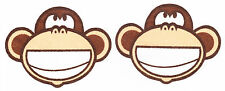 "3.5"" BOBBY JACK MONKEY ROCK STAR SET CHARACTER WALL SAFE FABRIC DECAL CUT OUT"