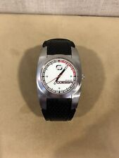 ODESSA Men's/Boys Skater Sports White Dial Black Leather Watch Sharp Looking