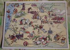 Carte de France Illustrées d'après Pinchon Calais Velours Arras Péronne Vervins