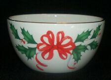 Lenox Holiday Christmas Bowl Ribbon Holly Berry New In Box B2